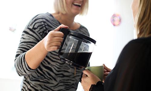 Kaffepaus på Handen assistans